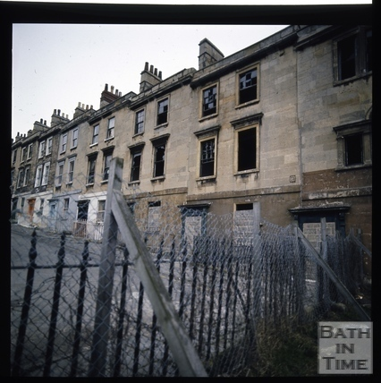 Snowdon. Chatham Row after fire testing, Bath 1972