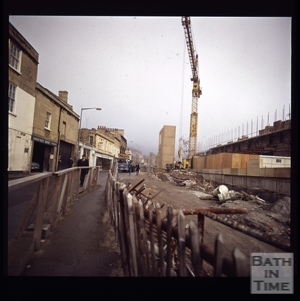 Snowdon. Looking up Walcot Street, Bath 1972