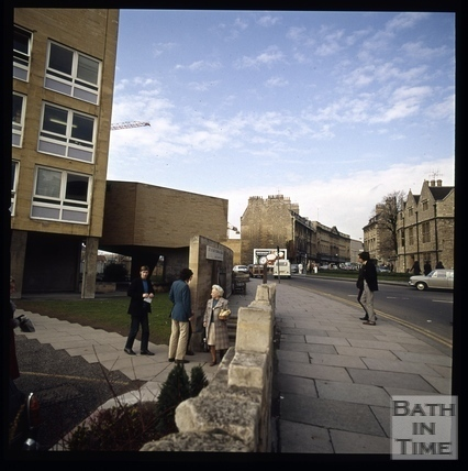 Snowdon. The Technical College from St. James's Parade, Bath 1972