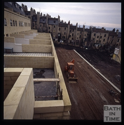 Snowdon. Lampard's Buildings and Morford Street, Bath 1972