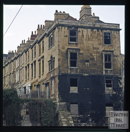 Snowdon. Chatham Row after fire testing, Bath 1972