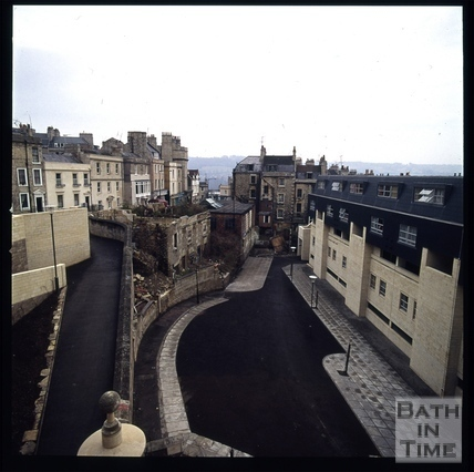 Snowdon. Rear of Ballance Street flats, Bath 1972