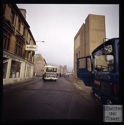 Snowdon. The ventilation shaft outside the Beaufort (now Hilton) Hotel. Walcot Street, Bath, Bath 1972
