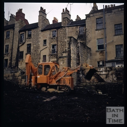 Snowdon. Rear of Lampard's Buildings, Bath 1972