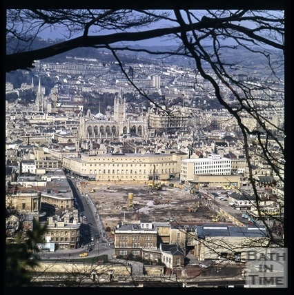 Snowdon - Southgate Clearance. View from Beechen Cliff, Bath 1972