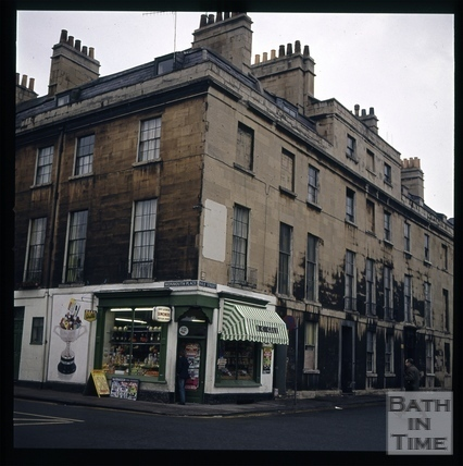 Snowdon. Corner of Monmouth Place and Nile Street, Bath 1972