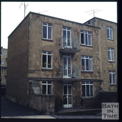 Snowdon. Phoenix House flats between Harley Street and Northampton Street, Bath 1972