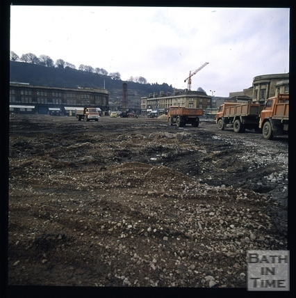 Snowdon. Taking away the old Southgate Street area, Bath 1972