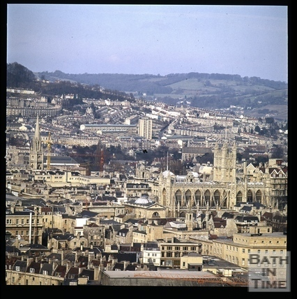 Snowdon. View of Bath Abbey from Beechen Cliff, Bath 1972