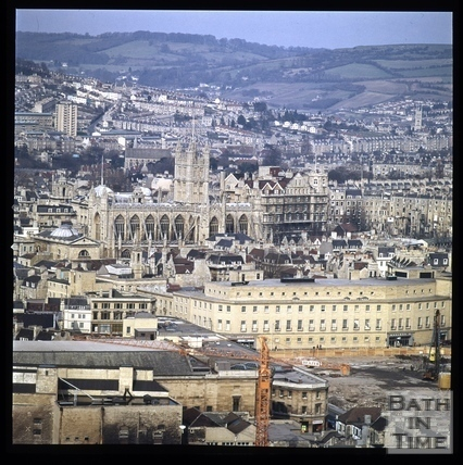 Snowdon. Southgate Clearance. View from Beechen Cliff, Bath 1972