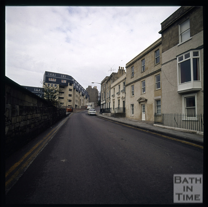 Snowdon. Ballance Street flats from Lansdown Road, Bath 1972
