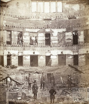 Theatre Royal, Bath destroyed by fire 1862