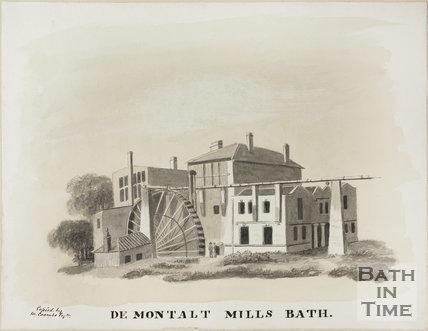 De Montalt Mills, Combe Down, Bath c.1850