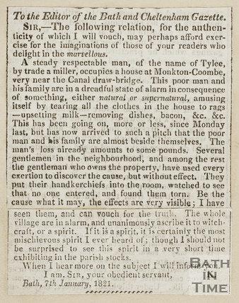 The Monkton Combe Ghost 1821
