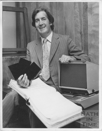 Presenting the new microfiche system, Electricity House, Dorchetser Street, Bath c.1974