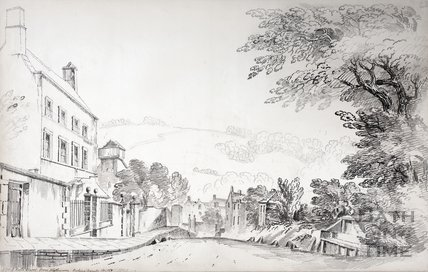 A view of the Maudlin Chapel from Holloway looking towards Bath