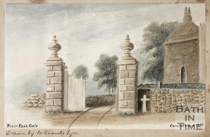 Prior Park Gate, Bath 1850