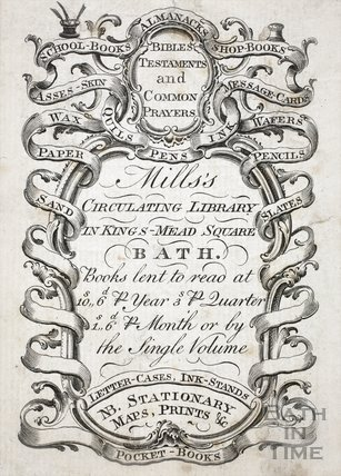 Mills's Circulating Library in Kings-Mead Square, Bath c.1770