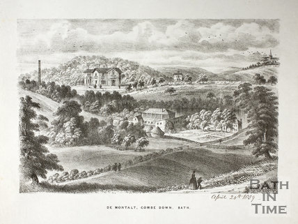 De Montalt Mill, Combe Down, Bath 1859