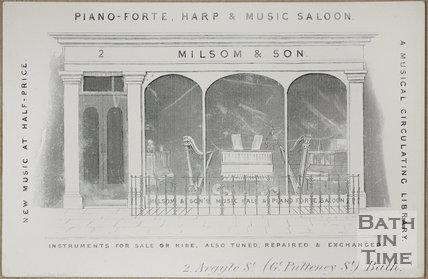 Milsom & Son, 2, Argyle Street (Gt. Pulteney Street), Bath c.1850