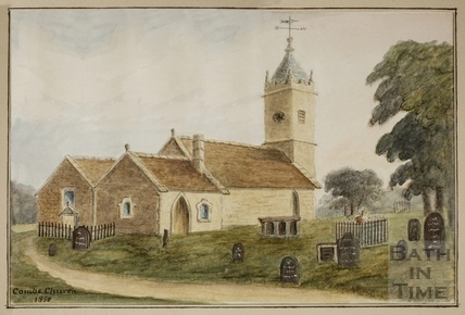Monkton Combe Church 1850