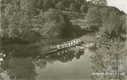 The Rowing Team, River Avon, Monkton Combe c.1950