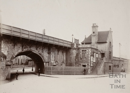 Twerton Railway Station, Lower Bristol Road, Bath pre-1899