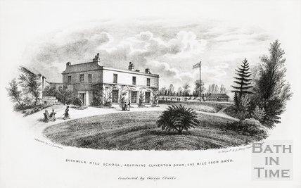 Bathwick Hill School, adjoining Claverton Down, one mile from Bath c.1840