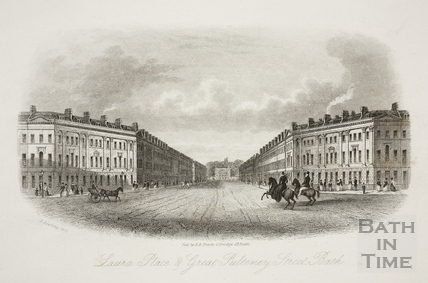 Laura Place and Great Pulteney Street, Bath c.1886