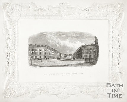 Great Pulteney Street and Laura Place, Bath c.1837