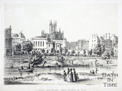 Literary Institution, Abbey Church &c, Bath c.1837