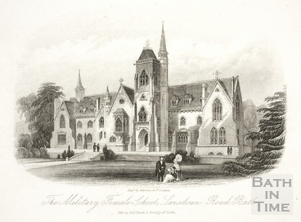 The Military Female School, Lansdown Road, Bath c.1886
