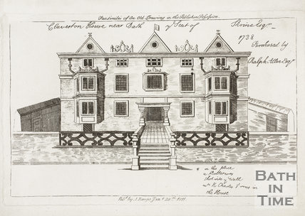 Claverton House near Bath. Ye Seat of Skrine Esq. Purchased by Ralph Allen Esq. 1738