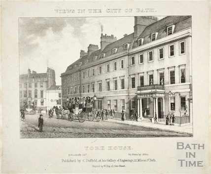 York House Hotel, Bath 1829
