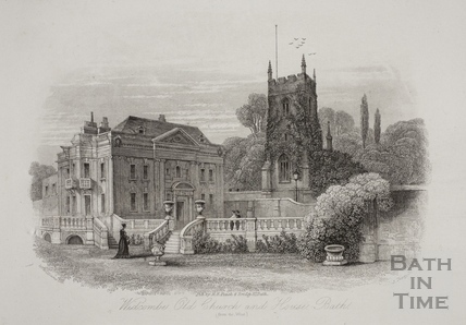 Widcombe. Old Church and House, Bath c.1886