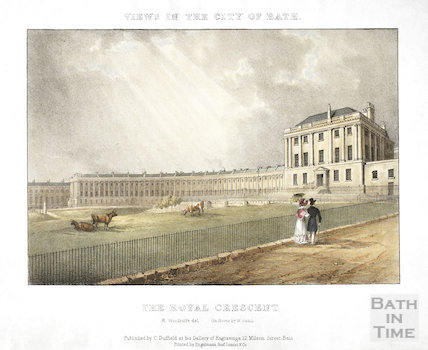 The Royal Crescent, Bath 1828