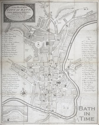 A new Plan of the City of Bath with the Additional buildings, to the present Time 1789