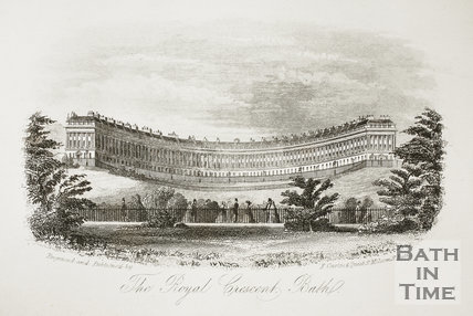 The Royal Crescent, Bath c.1860