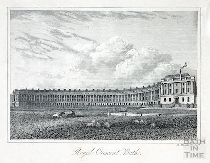 Royal Crescent, Bath 1839
