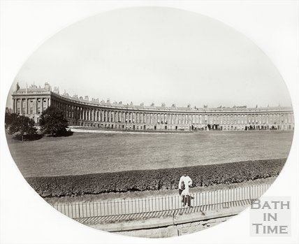 Royal Crescent, Bath c.1860?