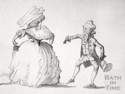 A Long Minuet as Danced at Bath 1787 - detail