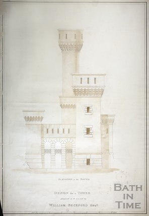 Design for a Tower proposed to be erected by William Beckford Esqre.