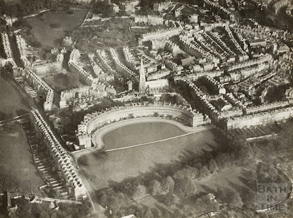 Aerial view of Royal Crescent, Bath c.1930