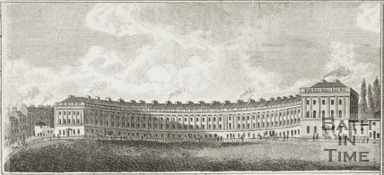The Royal Crescent, Bath 1817 - detail