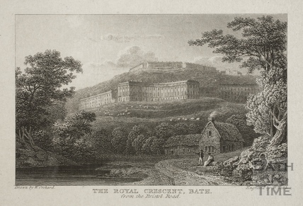 The Royal Crescent from the Bristol Road, Bath c.1815?