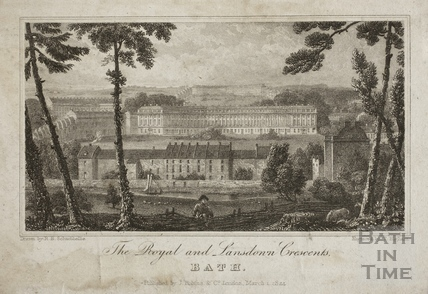 The Royal and Lansdown Crescents, Bath 1824