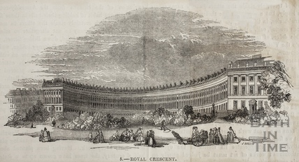 The Royal Crescent, Bath 1849