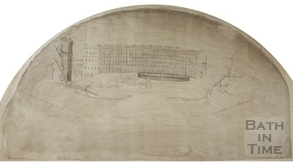 Fan view of the Circus, Bath 1759