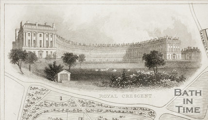 The Royal Crescent, Bath 1850 - detail