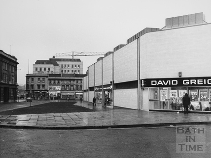 Southgate Centre and Dorchester Street, Bath 1974